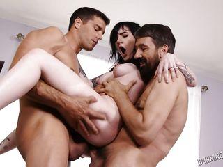Порно двойное проникновение в hd 720